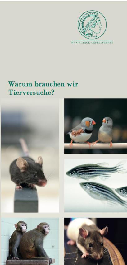 Flyer der Max-Planck-Gesellschaft: Warum brauchen wir Tierversuche?