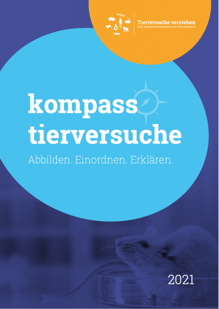 "Cover ""Kompass Tierversuche 2021!"